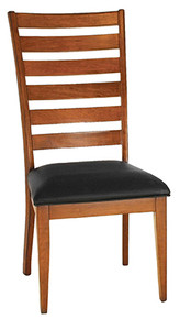 Upholstered Shaker Ladderback Side Chair