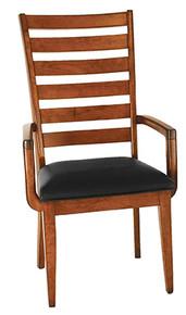 Upholstered Shaker Ladderback Arm Chair