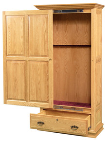 GO-5006 Gun Cabinet, 8-Gun Wooden Sliding Door