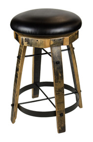 Round Barrel Stool w/Swivel