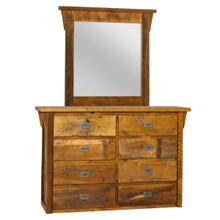 WD-334 Western Deluxe Dresser & Mirror
