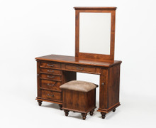 "WS #500 60"" Plymouth Dressing Table w/ Mirror"
