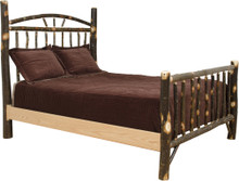 BRG Rustic Wagon Wheel Bed