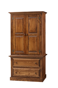 Pine Armoire on Chest