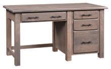 BF-2454 Barn Floor Single Pedestal Desk