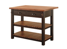J-78B Pine Kitchen Island