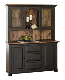 J-1 Large Pine Server w/2-Door Hutch