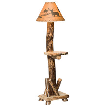 Colorado Aspen Floor Lamp w/Shelf