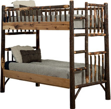 BRG Rustic Hickory Bunk Bed