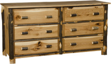 BRG Rustic 6-Drawer Dresser