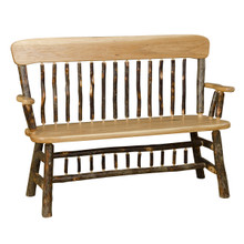 BRG Rustic Panel Back Bench