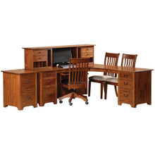 LCD80 Liberty Corner Desk & Short Hutch