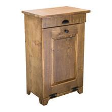 Rustic Pine Trash Bin