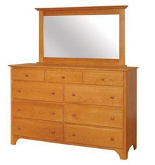 CWF411-450 Shaker Tall Dresser with Mirror