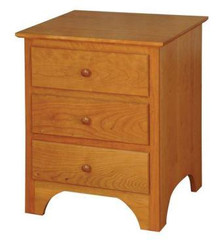 CWF421 Shaker 3-Drawer Nightstand