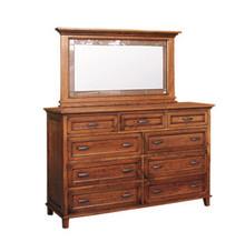 "CWF611 Brooklyn 66"" Tall Dresser with CWF650 Deluxe Mirror"