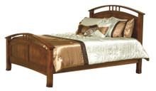 CWF702 Crescent Panel Queen Bed