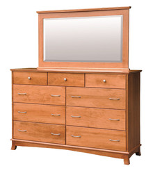 CWF711-767 Crescent Tall Dresser with Mirror