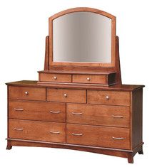CWF712-767-768 Crescent Dresser with Mirror and 2-Drawer Jewelry Box