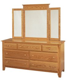 "JL 1 Shaker 66"" Dresser with Tri View Mirror"