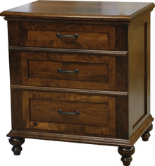 JL 104 Plymouth 3-Drawer Nightstand