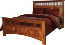 JL 1401 Dutch County Prairie Mission Bed, Queen Size