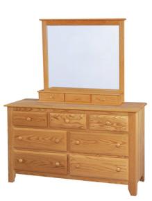 "JL 2 Shaker 56"" Dresser with Jewelry Drawer Mirror"