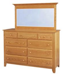 """JL 3 Shaker 64"""" Mule Dresser with Mule Dresser Mirror"""