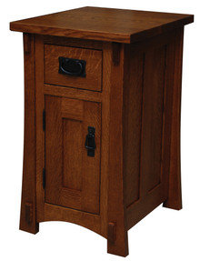 "JL 520 Dutch County Mission 16"" Nightstand, 1 Drawer, 1 Door"