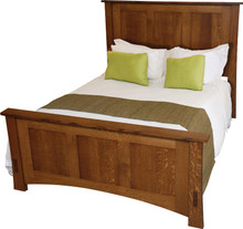 JL 535 Dutch County Mission Panel Bed, Queen Size