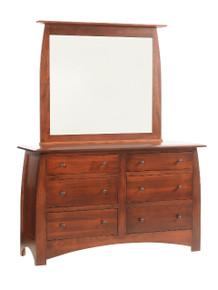 "MHF Bordeaux 62"" Dresser with Dresser Mirror"