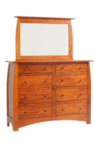 "MHF Bordeaux 62"" High Dresser with High Dresser Mirror"
