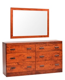 "MHF Crossan 63"" Dresser with Mirror"