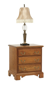 "MHF Elegant River Bend 24"" Nightstand 3-Drawer"