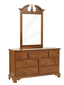 "MHF Elegant River Bend 56"" Dresser With Mirror"