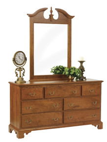 "MHF Elegant River Bend 62"" Dresser With Mirror"