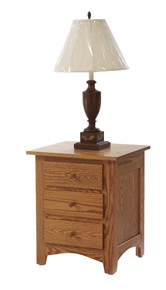 "MHF Elizabeth Lockwood 22"" Nightstand 3-Drawer"