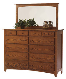 "MHF Elizabeth Lockwood 66"" High Dresser with High Dresser Mirror"
