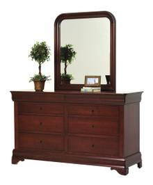 """MHF Louis Phillipe 66"""" Dresser with Dresser Mirror"""