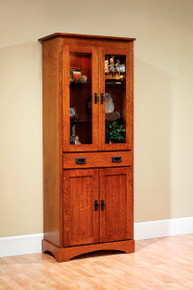 "MHF Old English Mission 30"" Bookcase with Doors"