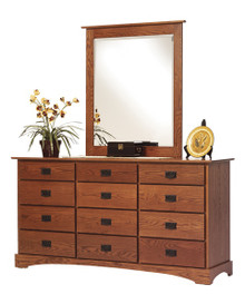 "MHF Old English Mission 72""  Dresser With Dresser Mirror"