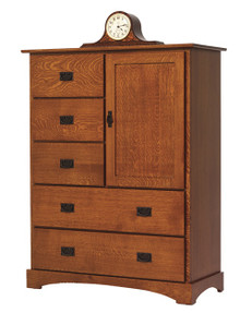MHF Old English Mission Chest of Drawers with Door