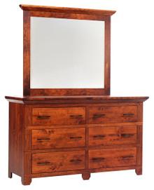 """MHF Redmond Wellington 66"""" Dresser with Dresser Mirror"""