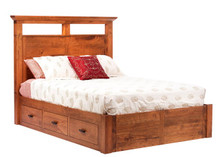MHF Redmond Wellington Queen Size Panel (Platform) Bed