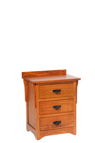 "MHF San Juan Mission 26"" Nightstand, 3-Drawer"