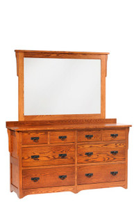 "MHF San Juan Mission 66"" Low Dresser with Low Dresser Mirror"