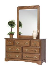 "MHF Sierra Classic 56"" Dresser with #51 Dresser Mirror"