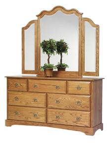 "MHF Sierra Classic 65"" Dresser with #41 Tri Mirror"