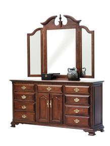 "MHF Victoria's Tradition 72"" Dresser with #40 Tri Mirror"