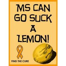 MS Lemons White Tank Top